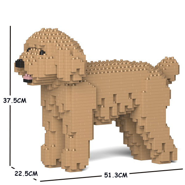 JEKCA Animal Building Blocks Kit for Kidults Toy Poodle 01C-M03