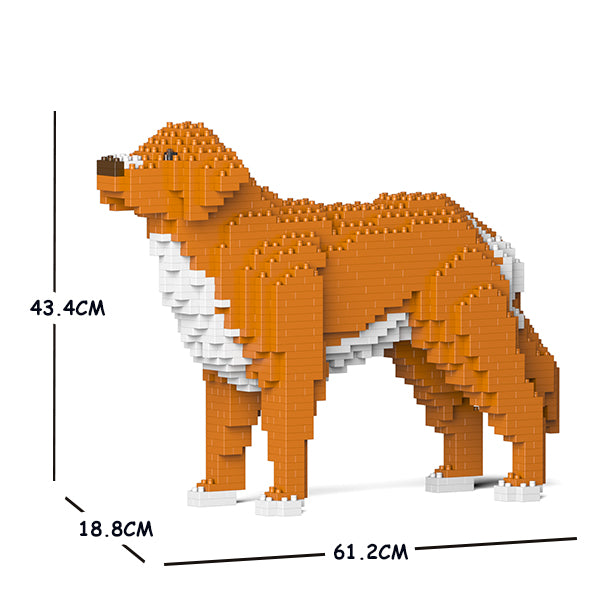 JEKCA Animal Building Blocks Kit for Kidults Nova Scotia Duck Tolling Retriever 01C-M01