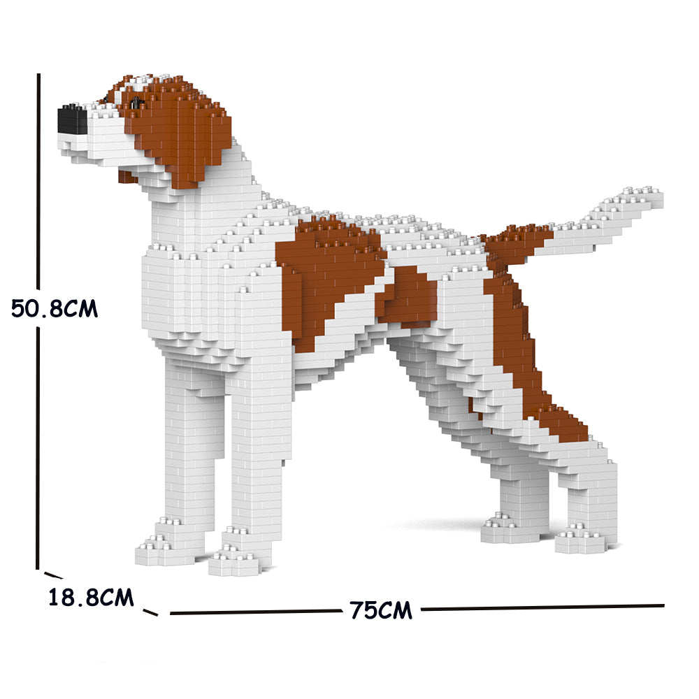 JEKCA Animal Building Blocks Kit for Kidults English Pointer 01C-M01