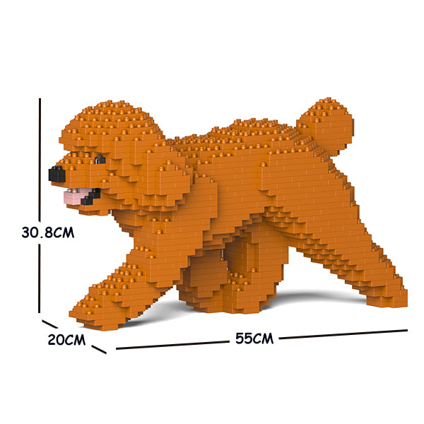 JEKCA Animal Building Blocks Kit for Kidults Toy Poodle 02C-M04