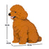 JEKCA Animal Building Blocks Kit for Kidults Toy Poodle 03C-M04