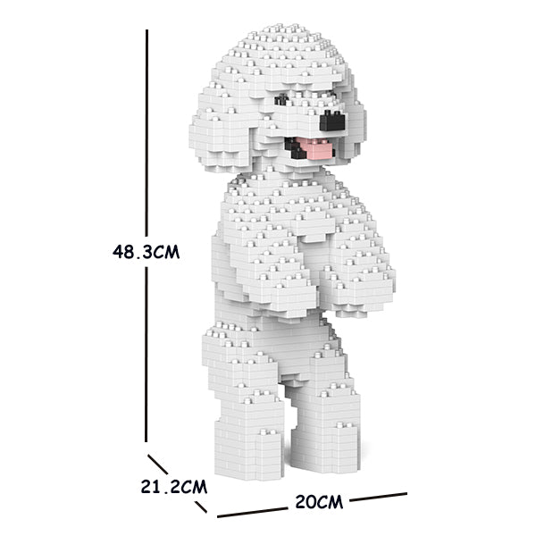 JEKCA Animal Building Blocks Kit for Kidults Toy Poodle 04C-M01