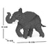 JEKCA Animal Building Blocks Kit for Kidults Elephant 01C