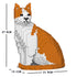 JEKCA Animal Building Blocks Kit for Kidults Cat 10S-M03