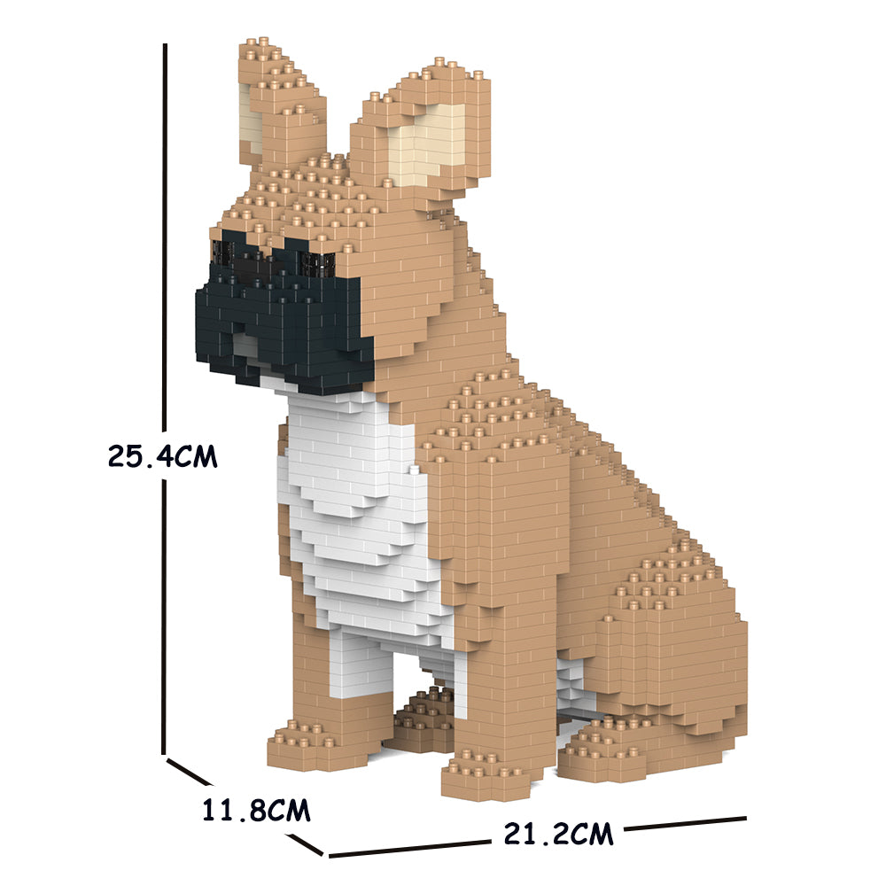 JEKCA Animal Building Blocks Kit for Kidults French Bulldog 04S-M01