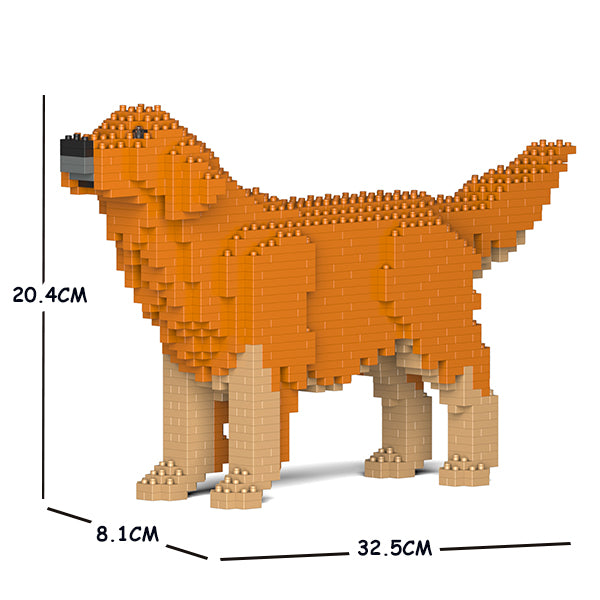 JEKCA Animal Building Blocks Kit for Kidults Golden Retriever 02S-M02