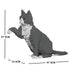 JEKCA Animal Building Blocks Kit for Kidults Grey Tuxedo Cat 03S
