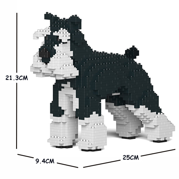JEKCA Animal Building Blocks Kit for Kidults Standard Schnauzer 01S-M02b