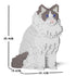 JEKCA Animal Building Blocks Kit for Kidults Ragdoll Cat 01S-M02