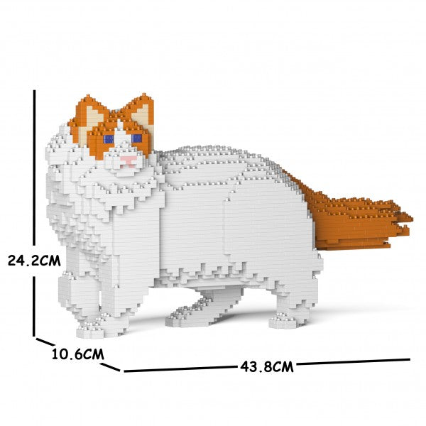 JEKCA Animal Building Blocks Kit for Kidults Ragdoll Cat 02S-M04