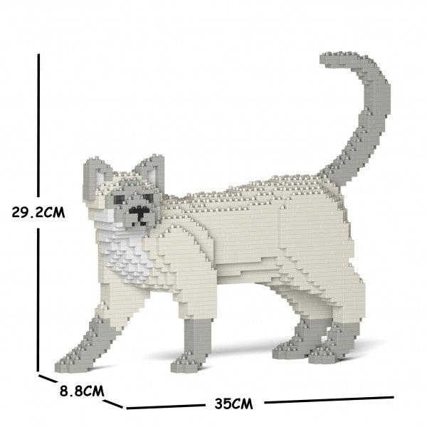 JEKCA Animal Building Blocks Kit for Kidults Tonkinese Cat 02S-M02