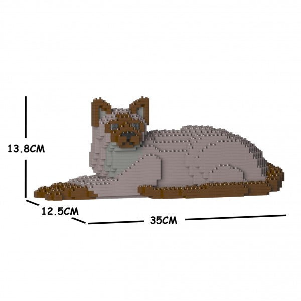 JEKCA Animal Building Blocks Kit for Kidults Tonkinese Cat 03S-M01