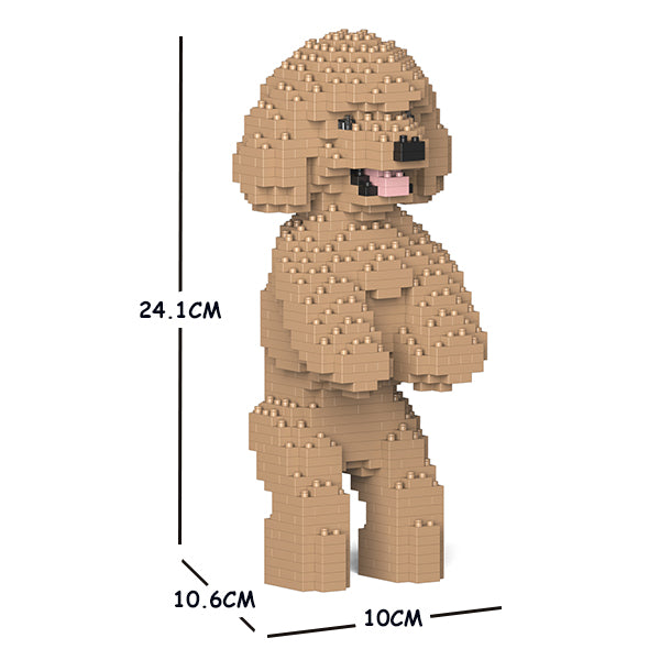JEKCA Animal Building Blocks Kit for Kidults Toy Poodle 04S-M03