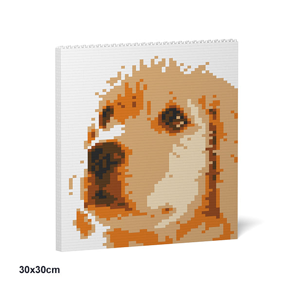JEKCA Animal Building Blocks Kit for Kidults Golden Retriever Brick Painting 01S