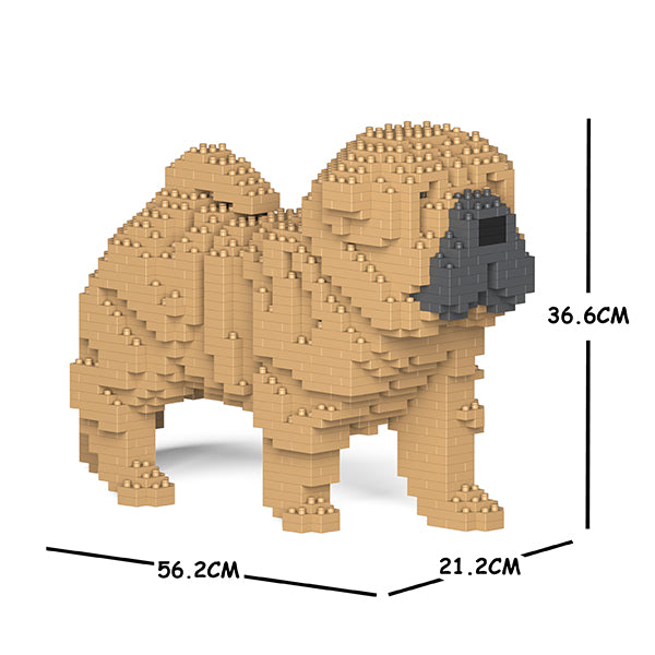 JEKCA Animal Building Blocks Kit for Kidults Shar Pei 01C-M01