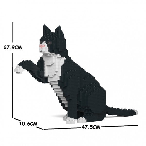 JEKCA Animal Building Blocks Kit for Kidults Tuxedo Cat 03S
