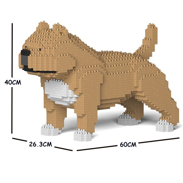JEKCA Animal Building Blocks Kit for Kidults American Bully 01C-M01