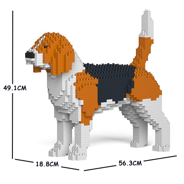 JEKCA Animal Building Blocks Kit for Kidults Beagle 01C