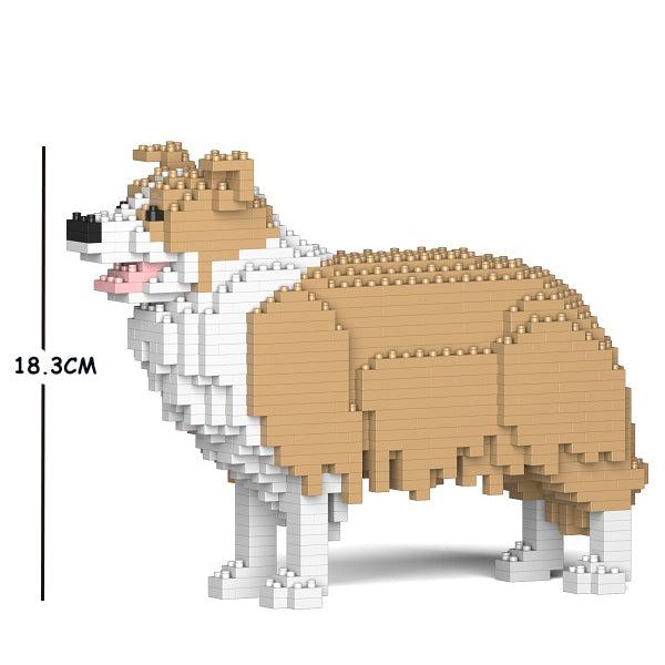 JEKCA Animal Building Blocks Kit for Kidults Border Collie 01S-M03
