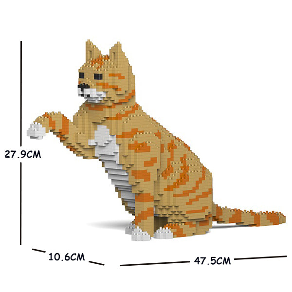 JEKCA Animal Building Blocks Kit for Kidults Cat 04S-M01