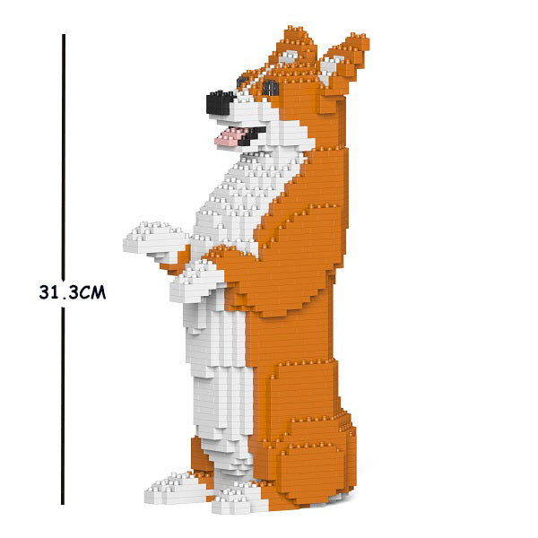 JEKCA Animal Building Blocks Kit for Kidults Welsh Corgi 05S-M01