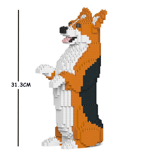 JEKCA Animal Building Blocks Kit for Kidults Welsh Corgi 05S-M02