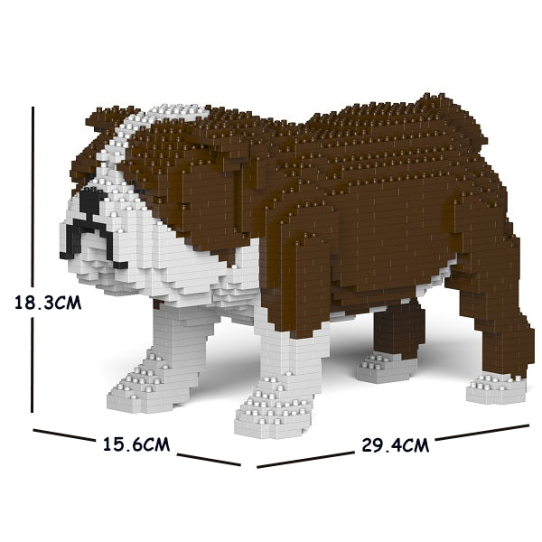 JEKCA Animal Building Blocks Kit for Kidults English Bulldog 01S-M01