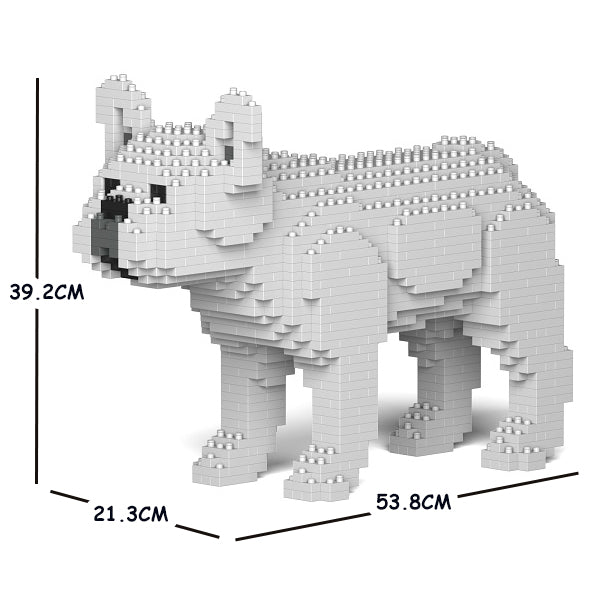 JEKCA Animal Building Blocks Kit for Kidults French Bulldog 01C-M05
