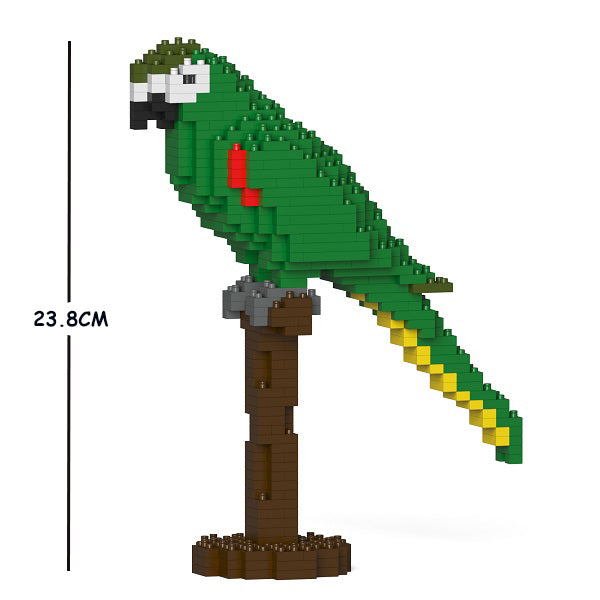 JEKCA Animal Building Blocks Kit for Kidults Hahn's Macaw 01S