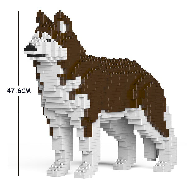 JEKCA Animal Building Blocks Kit for Kidults Husky 01C-M03