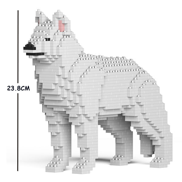 JEKCA Animal Building Blocks Kit for Kidults Husky 01S-M02