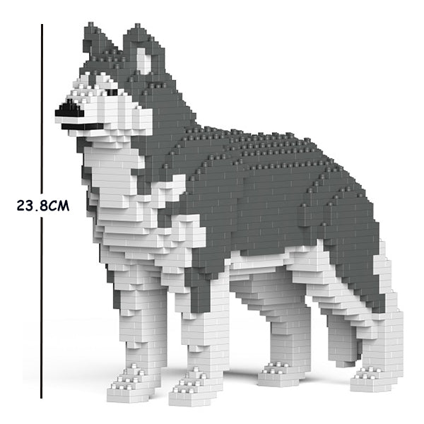 JEKCA Animal Building Blocks Kit for Kidults Husky 01S-M04