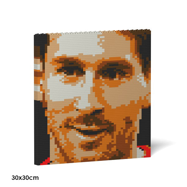 JEKCA Animal Building Blocks Kit for Kidults Lionel Messi Brick Painting 04S