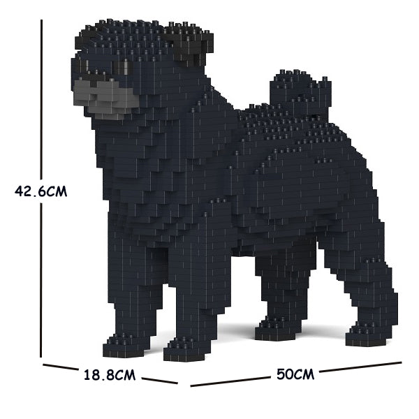 JEKCA Animal Building Blocks Kit for Kidults Pug 01C-M02