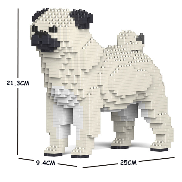 JEKCA Animal Building Blocks Kit for Kidults Pug 01S-M03