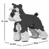 JEKCA Animal Building Blocks Kit for Kidults Standard Schnauzer 01C-M01