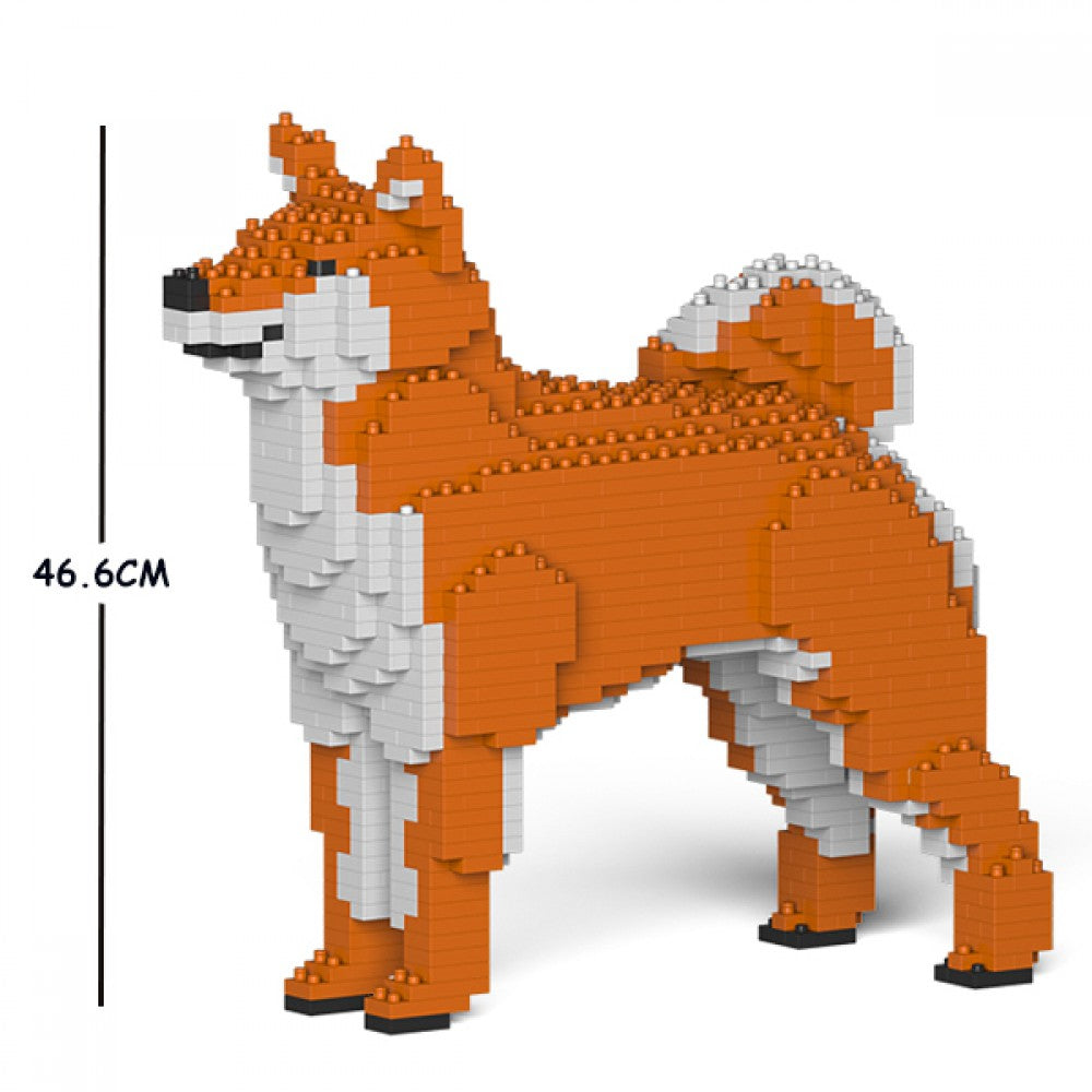 JEKCA Animal Building Blocks Kit for Kidults Shiba Inu 01C-M01