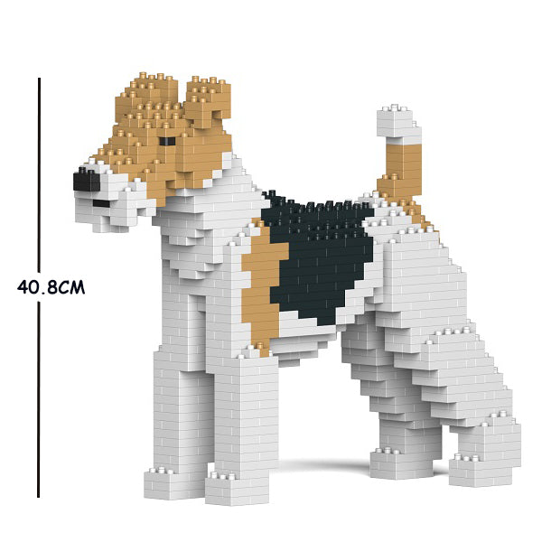 JEKCA Animal Building Blocks Kit for Kidults Wire Haired Fox Terrier 01C