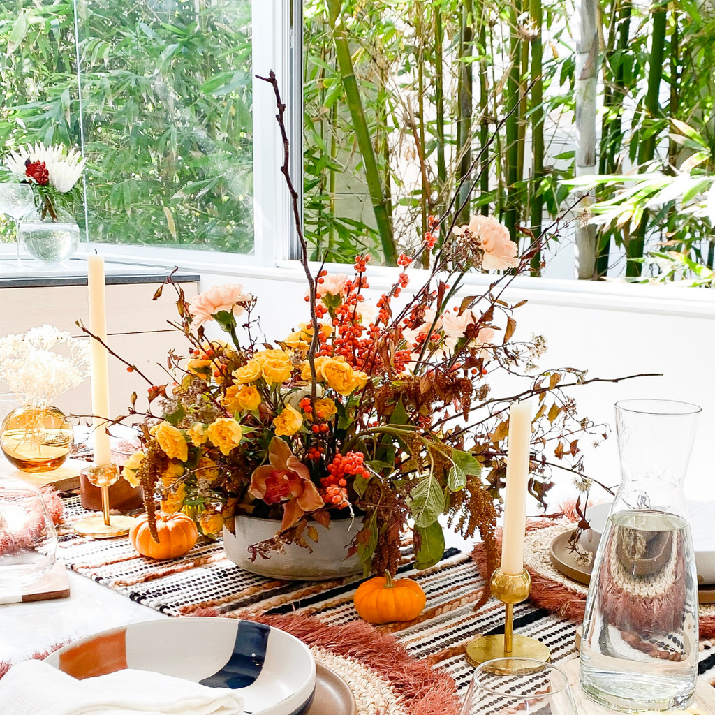 How to Make a DIY Centerpiece For Thanksgiving with Life in Jeneral!