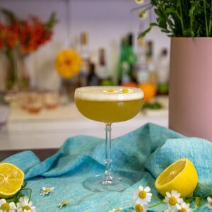 Chamomile Whiskey Sour