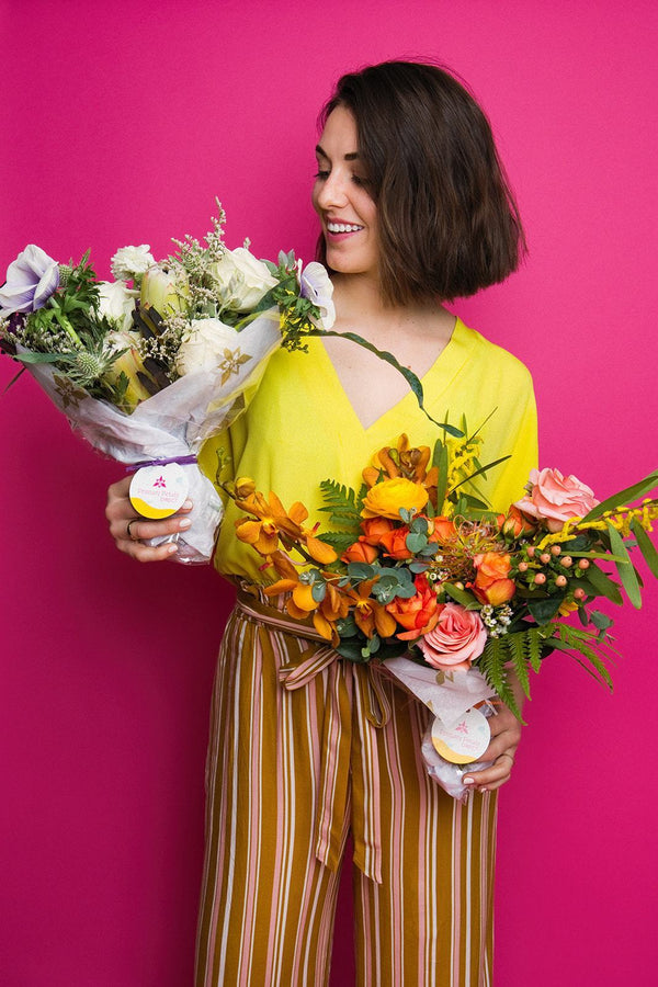 Two bouquets a month sent to your door. Flower Delivery / Subscription Service Los Angeles Orange County