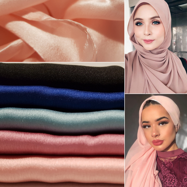 Hijab Louna XXL en Viscose Rose
