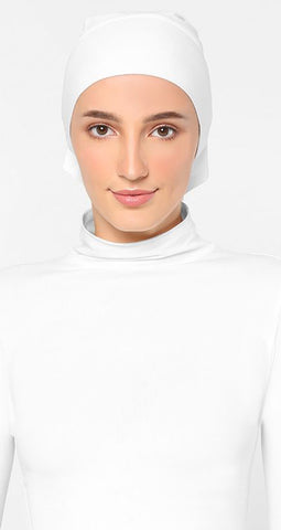 Sous Hijab Collection Premium Jersey Tube Blanc