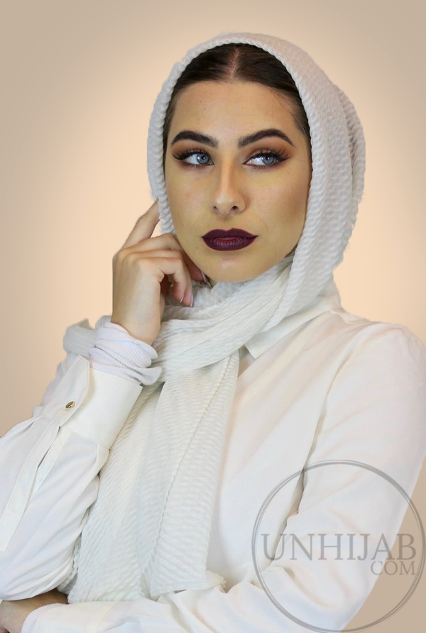 Hijab Careena Blanc