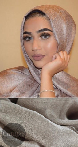 Hijab Collection Ilaina En Lin Taupe