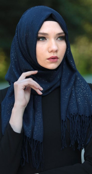 Pashmina Collection Talia Bleu Marine