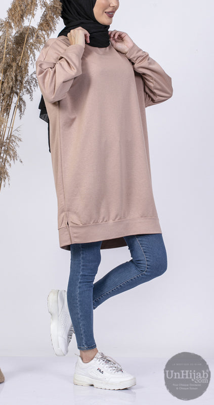 SweatShirt Long Beige