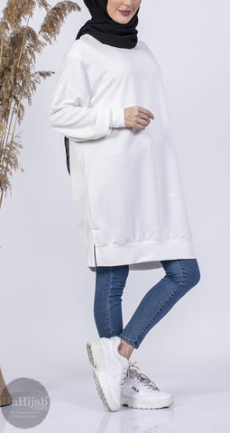 SweatShirt Long Blanc