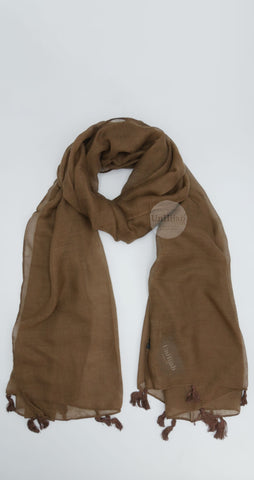 Châle Collection Basic Marron