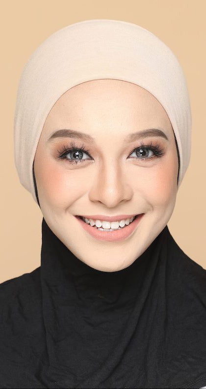 Sous Hijab Collection Basic Bonnet Creme